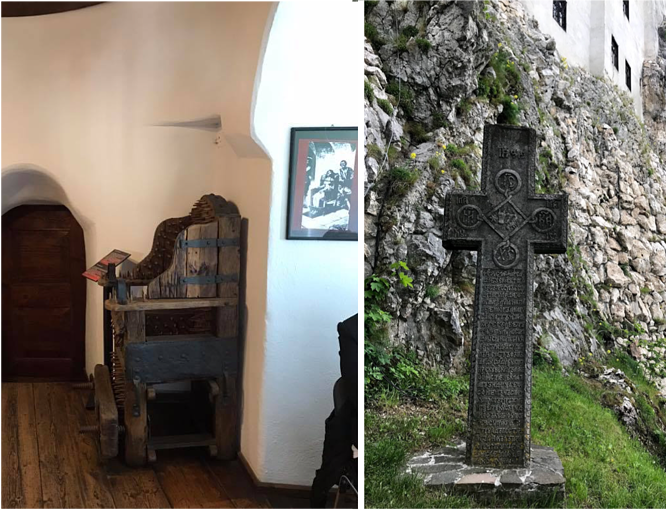 Bran Castle Chair of Nails and Cross Romania