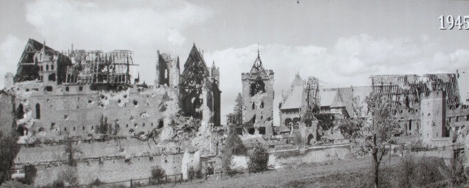 Photo of post-WWII display at Malbork Castle
