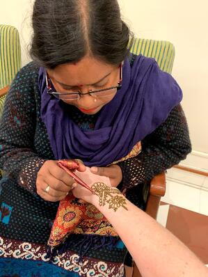 Oberoi Agra Dinner Henna Tattoo