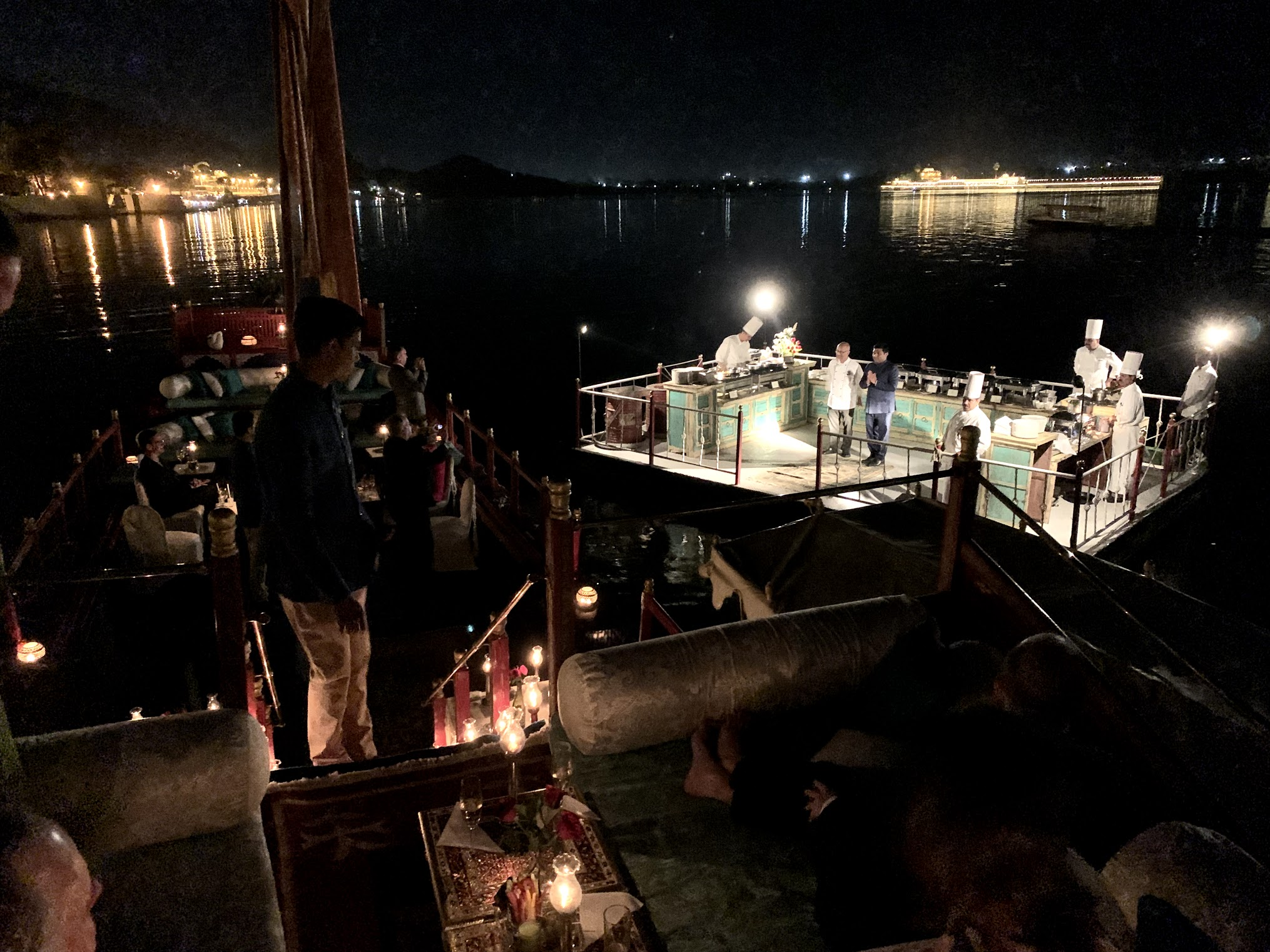 Taj Lake Palace Floating Dinner