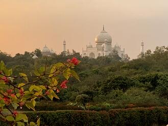 Taj Mahal Sunset