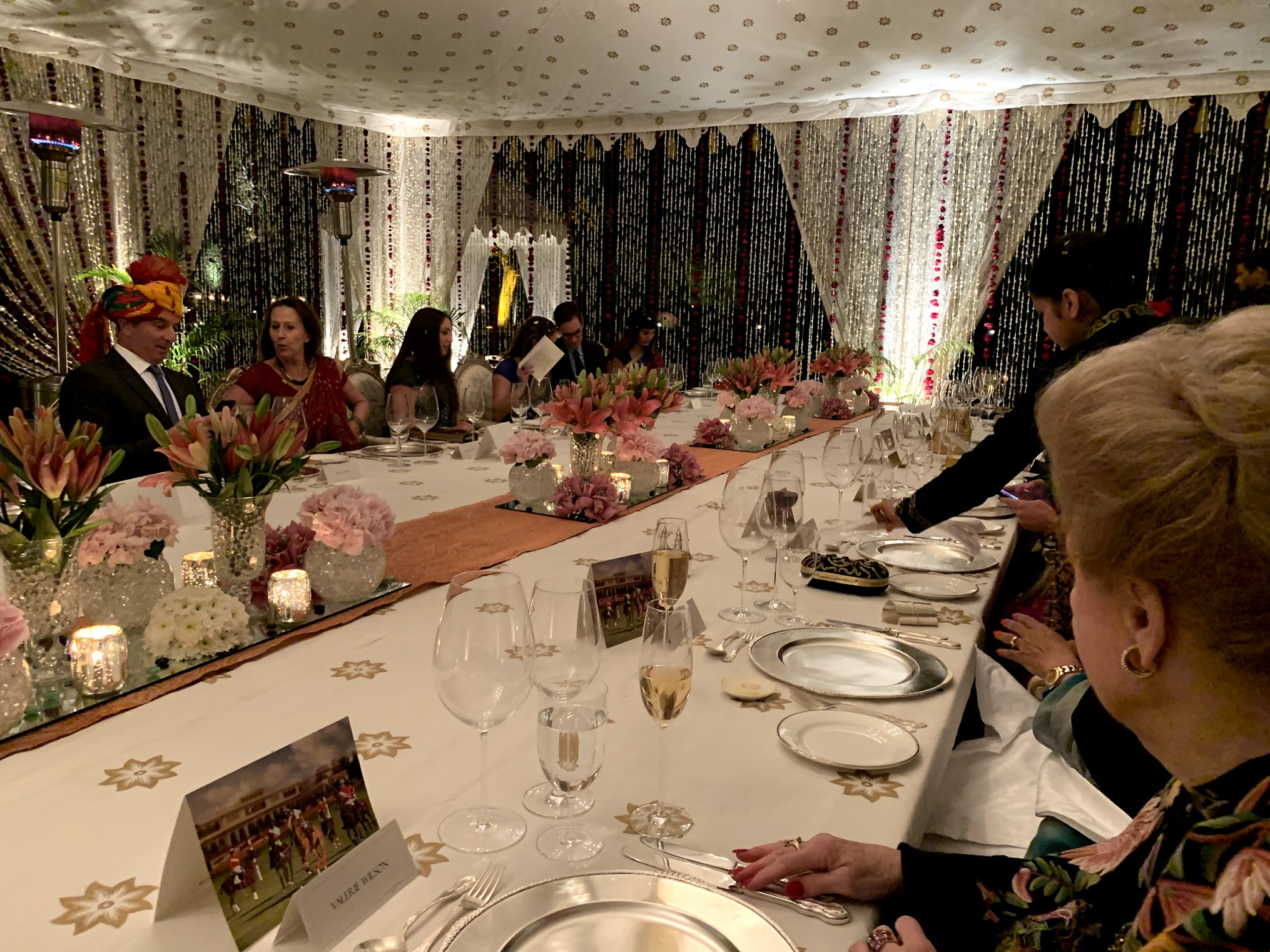 Taj Rambagh Palace Dinner Tent